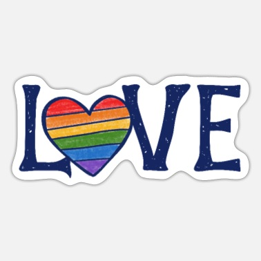 Gay love gay rights - Sticker