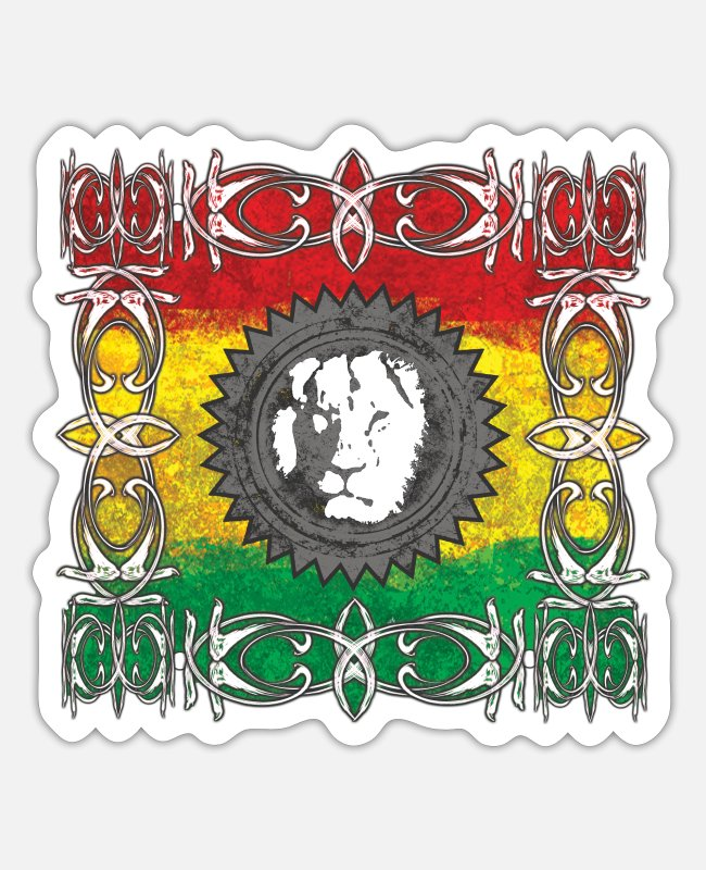 Root Stickers - Lion Reggae mystic - Sticker white matte