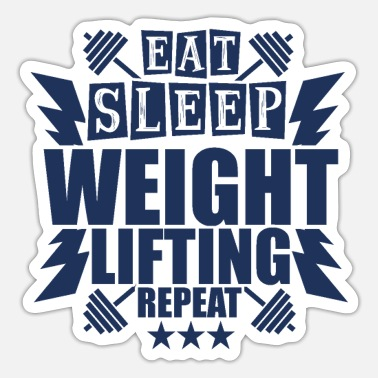 Weightlifting Weightlifting Weightlifting Weightlifting - Sticker