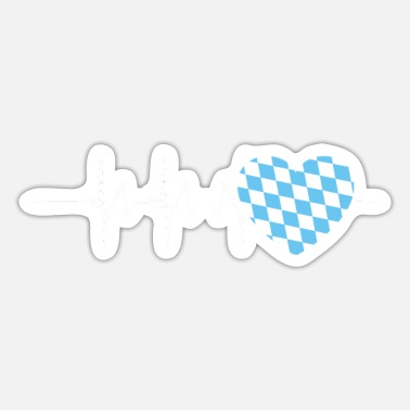 Southern Germany Bavarian Heartbeat Bavaria Southern Germany - Sticker