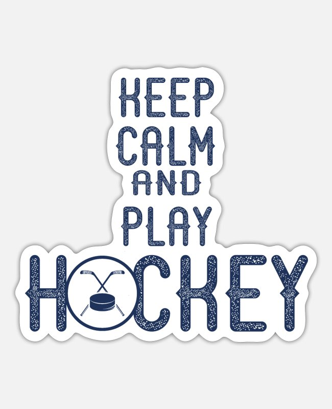 Indoor Hockey Stickers - Hockey Field Hockey Team Hockeyplayer Goalie - Sticker white matte