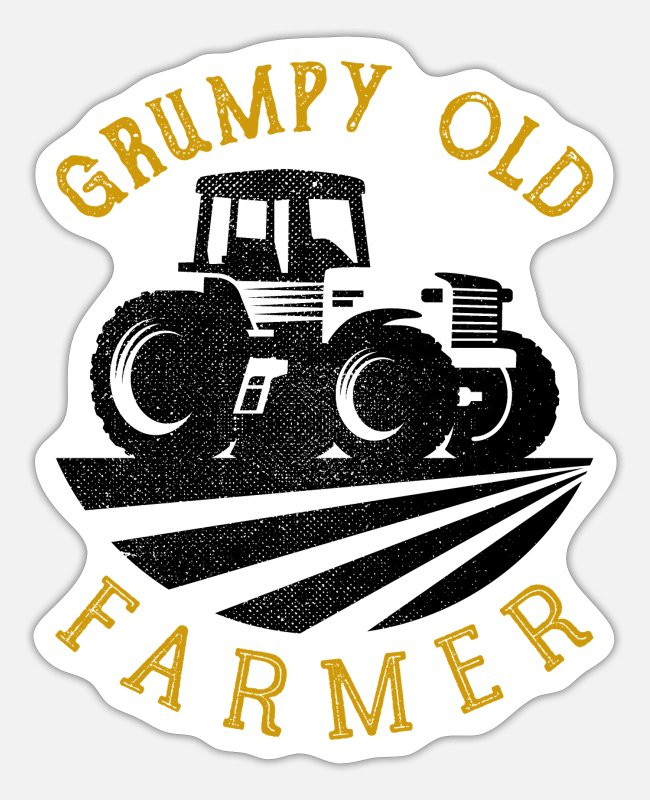 Old Fashioned Stickers - Grumpy Old Farmer - Sticker white matte