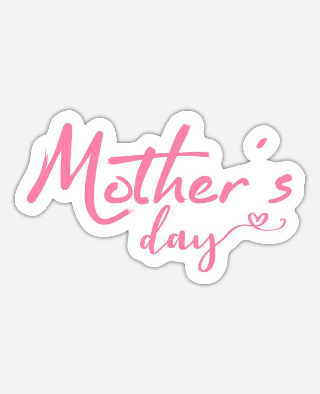 Pregnancy Stickers - Mothers Day Mothers Day Mothers Day Mothers Day - Sticker white matte