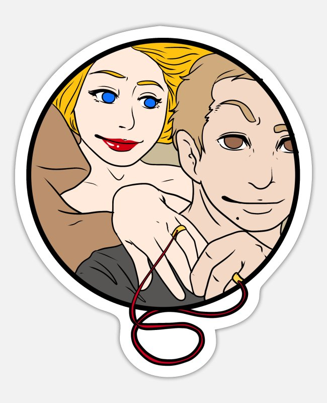 Cuckold Stickers - CUCKOLDING Cuckold Pervert Husband Chastity Wife - Sticker white matte
