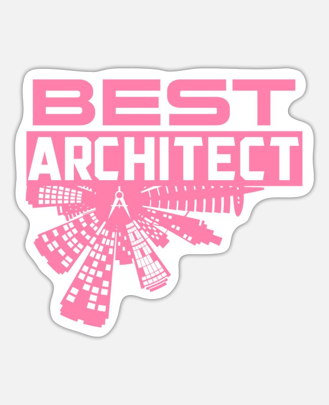 Building Stickers - Architecture - Sticker white matte