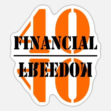 Financial Financial Freedom - Sticker