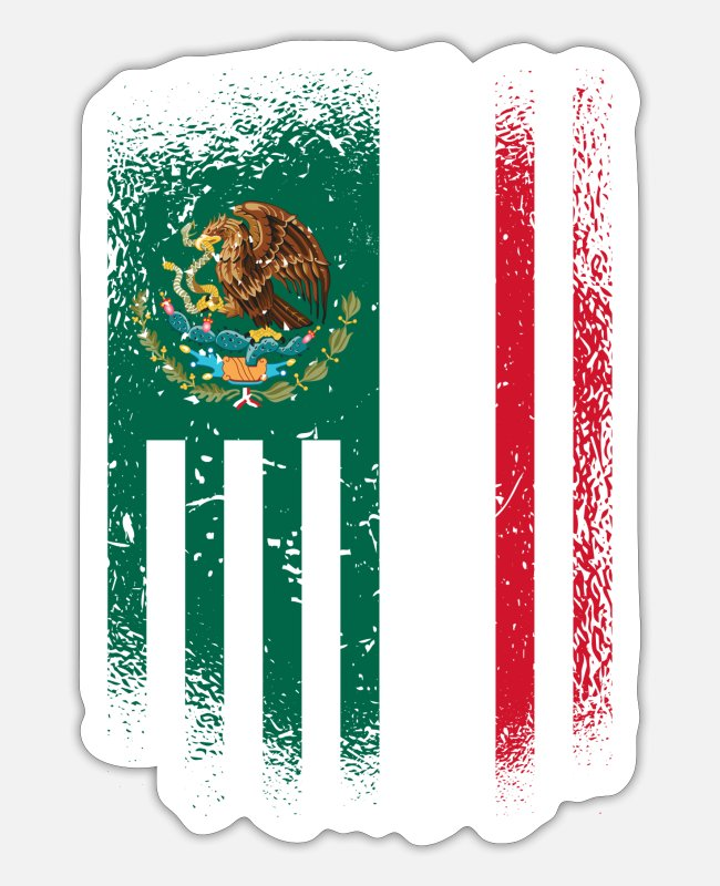 Monterrey Mexico Stickers - Mexico Flags Design / Gift Mexico Toluca - Sticker white matte