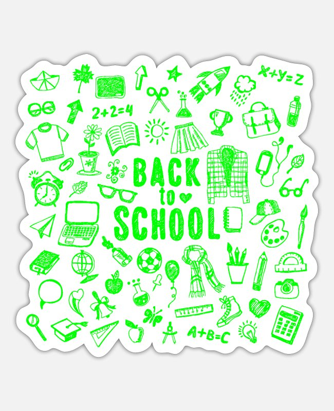 Ass Stickers - Back To School - Sticker white matte