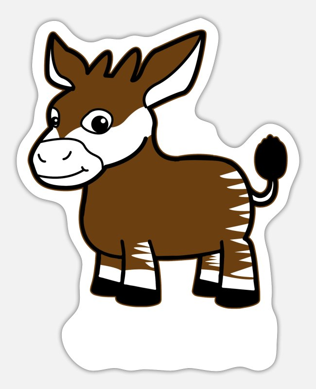 Cute Stickers - Okapi Forest Giraffe Serengeti Africa Safari - Sticker white matte