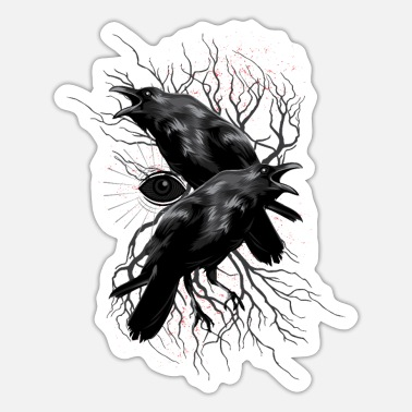 Odin Odins ravenbirds - Sticker