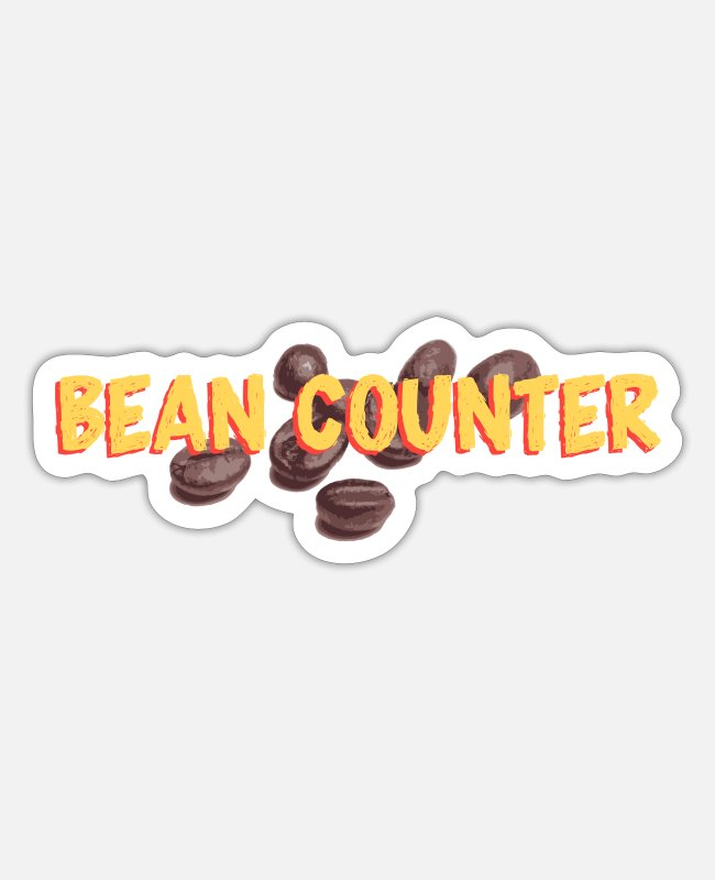 Coffee Bean Stickers - Bean Counter - Sticker white matte