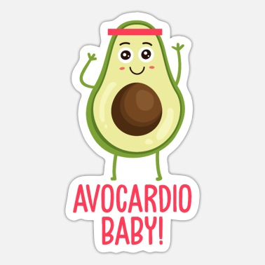 Avocardio Avocardio - Avocado with cardio - Sticker