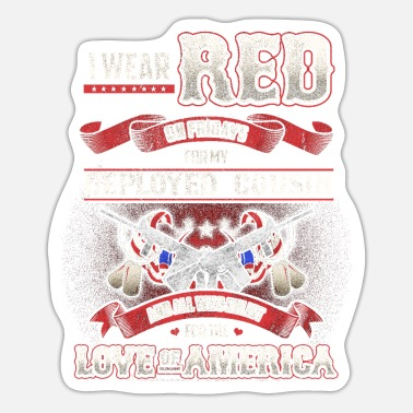 I Love My Cousin Red Fridays Cousin Support - Sticker
