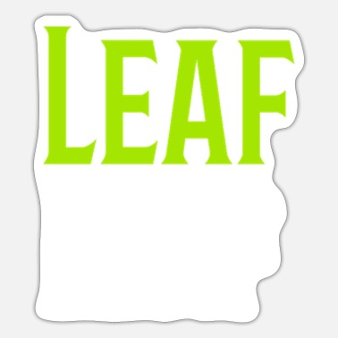 Leaf Leaf Leafs - Sticker