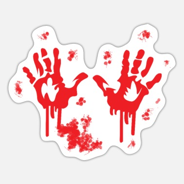 Bloody Bloody handprint bloody hand - Sticker