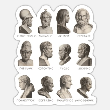 Greek Ancient greek philosophers, politicians, poets - Sticker