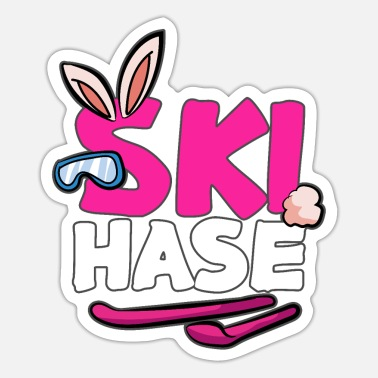 After Ski Ski Hase Snow Bunny funny After Ski Apres Ski - Sticker