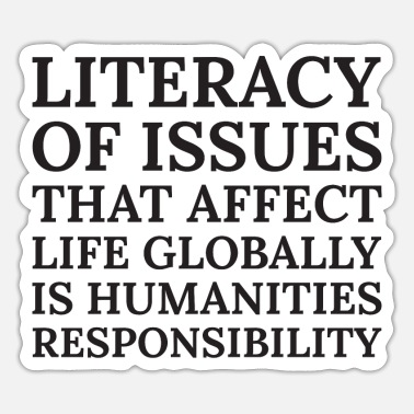 Affection Text: Literacy of issues that affect... (black) - Sticker