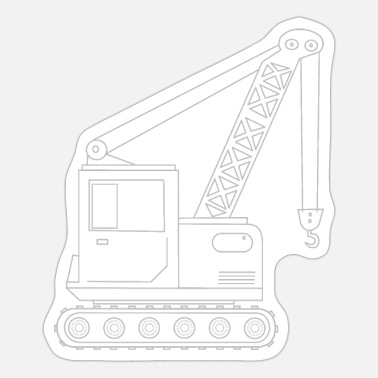 Heavy Truck Crane truck 1 - Sticker