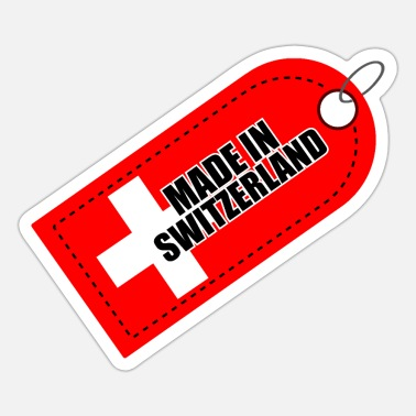 Made In Switzerland Made in Switzerland Swiss Flag Gift Idea - Sticker