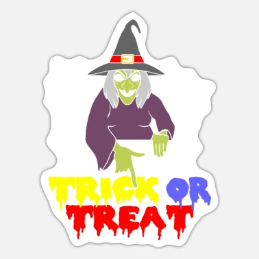 Witch Witch Witch Hat Halloween Witch Design Witches Wit - Sticker