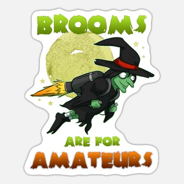 Witch Witch on witch broom - Sticker