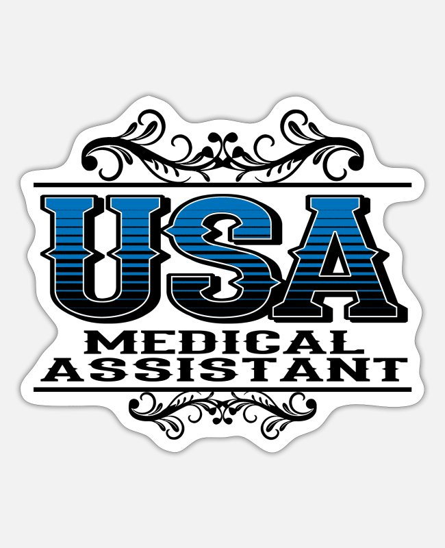 Alternative Medicine Jokes Stickers - USA Medical Assistant Funky Jokes - Sticker white matte