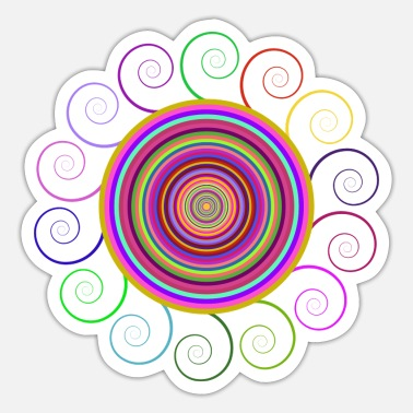 Circular Circular rainbow - Sticker