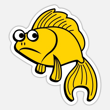 Unhappy unhappy fishy - Sticker