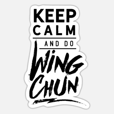 Wingtsun Wing Chun WingTsun Kung Fu Martial Arts Fighter - Sticker