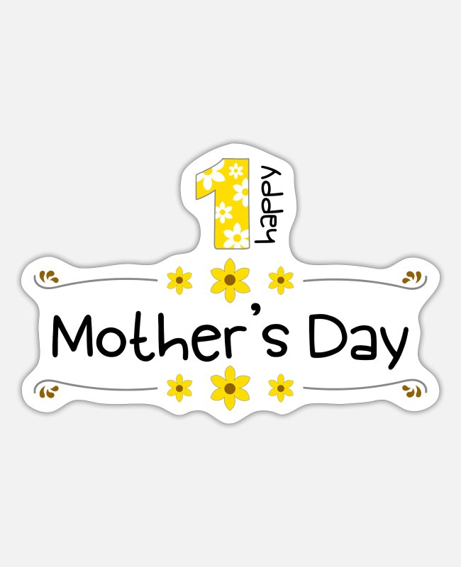 Pregnancy Stickers - mothers day - Sticker white matte
