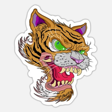 Bengali Tiger Head - Sticker