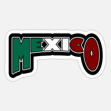 Green White Red Mexico black - Sticker