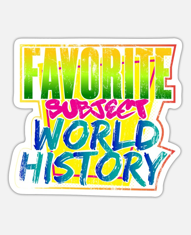 Learning Stickers - World history - Sticker white matte