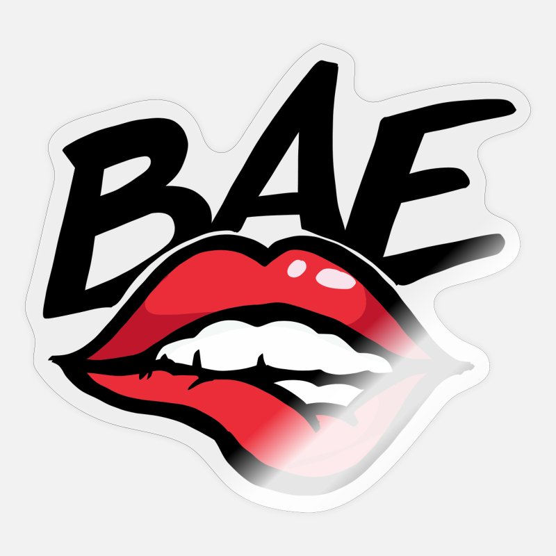before anyone else bae kiss hot lovers lips sticker transparent glossy