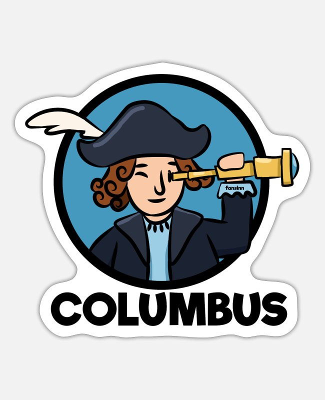 Usa Stickers - Columbus Day America Discovery Adventure Gift - Sticker white matte