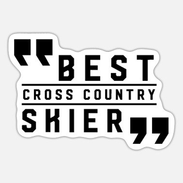 Cross Country Skiing Cross Country Ski - Sticker