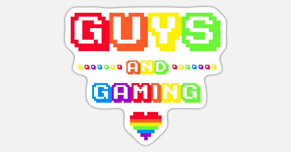 Gay Gamer Birthday Gift Idea Boyfriend 8bit Sticker Spreadshirt