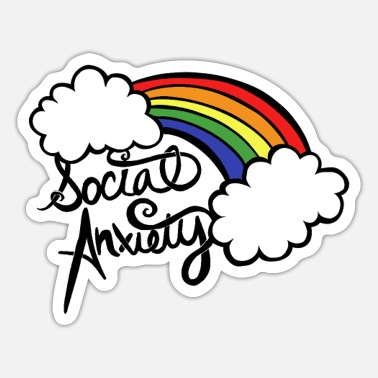 Anxiety Social Anxiety - Sticker