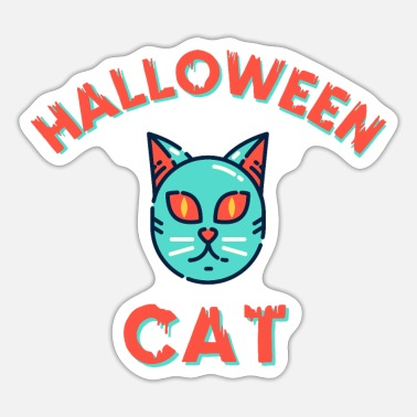 Horrormovie Halloween Cat Cats Creepy gift for kids cat - Sticker