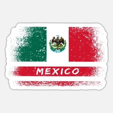 Monterrey Mexico Vintage Flags Design - Sticker