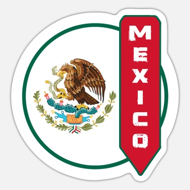 Monterrey Mexico Circle with Coat of Arms / Gift - Sticker