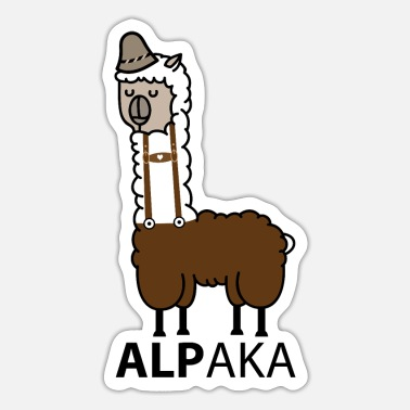 Leather Pants Alpaca with leather pants - Sticker
