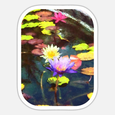 Pond Lotus Pond - Sticker