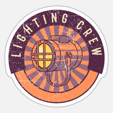 Designer Lighting Crew Retro Light Tech Stage Crew Gifts - Sticker