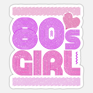 80s 80s girl - Sticker