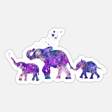 Siblings Elephant Siblings - Sticker