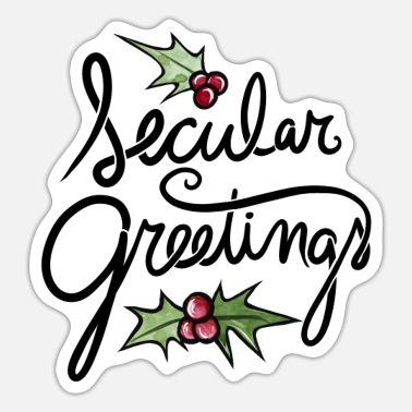 Greeting Secular Greetings - Sticker