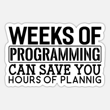 Apt Get Programmer Weeks Of Programming - Sticker