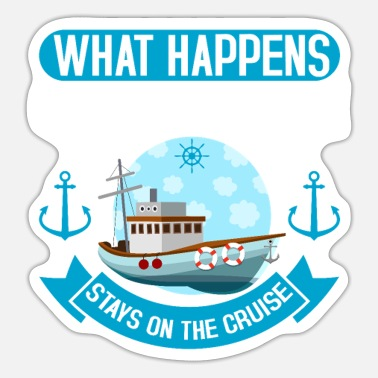 Cruise On The Cruise Shipping Cruising Cruise - Sticker